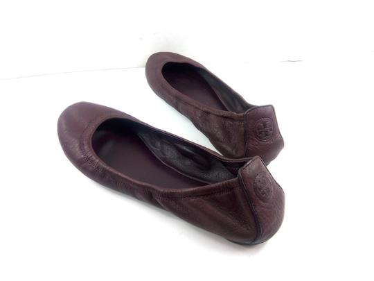 Tory Burch Ballet Burgundy Red Flats Image 6