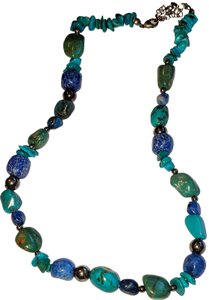 Carolyn Pollack Sincerely Southwest Turquoise & Sodalite Gemstone Necklace Sterling
