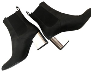 Gucci black with silver heel Boots