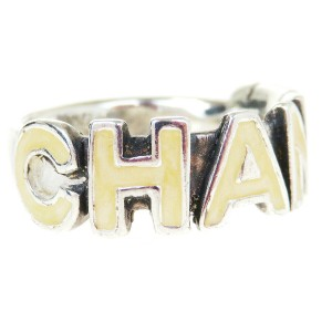 Chanel Authentic CHANEL Logos Ring Sliver Size 7 00T France Accessory Vintage