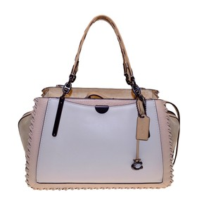 Coach Pebbled Crossbody Dreamer Colorblock Satchel in Ivory Multi