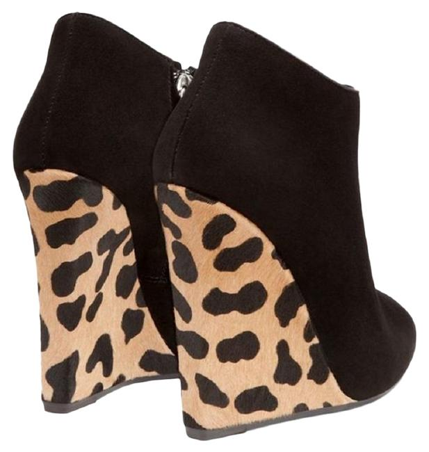 Item - Black/Beige /Leopard Suede Ankle with Print Wedge Boots/Booties Size EU 40 (Approx. US 10) Regular (M, B)