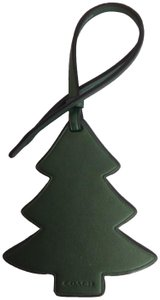 Coach Coach New Forest Green Leather Tree Hang Tag