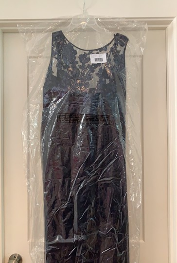 Amsale Navy Tulle / Sequin Gb041 / Dayna Formal Bridesmaid/Mob Dress Size 14 (L) Image 2