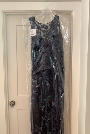 Amsale Navy Tulle / Sequin Gb041 / Dayna Formal Bridesmaid/Mob Dress Size 14 (L) Image 4