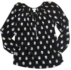 Motherhood Maternity Gray and White Dotted