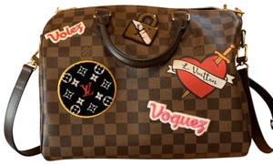 Louis Vuitton Limited Edition Coated Canvas Leather Verified Cross Body Bag