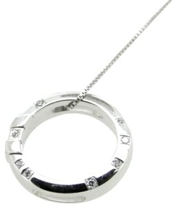 Omega Constellation 18K White Gold and Diamonds Round Pendant