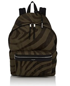 Saint Laurent Tiger Print Canvas Backpack