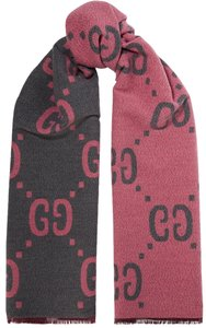 Gucci NEW GUCCI LOGO GG WOOL REVERSIBLE SCARF WRAP NWT