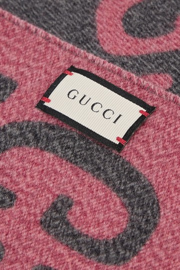 Gucci NEW GUCCI LOGO GG WOOL REVERSIBLE SCARF WRAP NWT Image 10