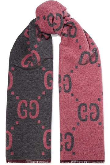 Gucci NEW GUCCI LOGO GG WOOL REVERSIBLE SCARF WRAP NWT Image 7