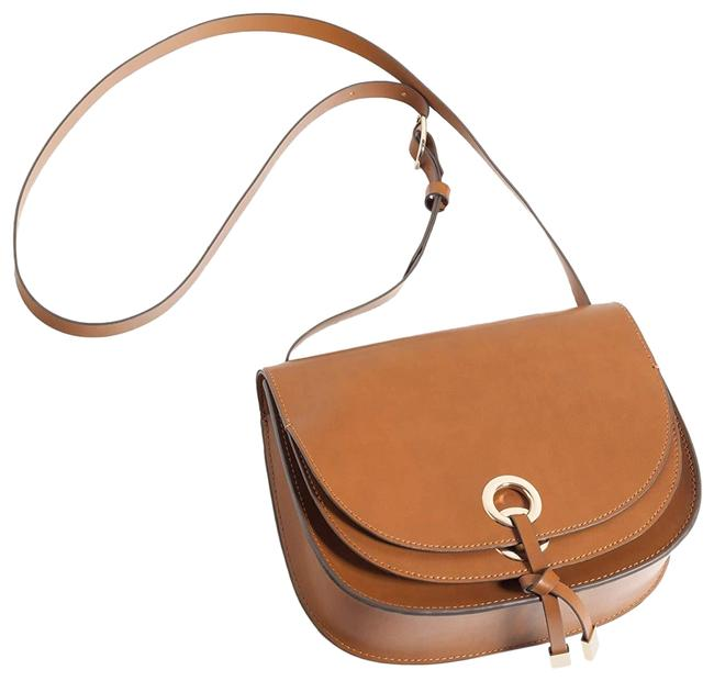 Item - New Flap Purse Tan Brown Faux Leather Cross Body Bag