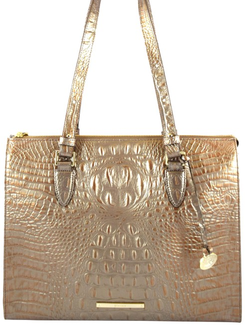 Item - Anywhere Rose Gold Melbourne Leather Tote