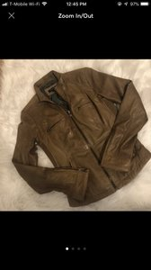 LAMARQUE Tan Leather Jacket