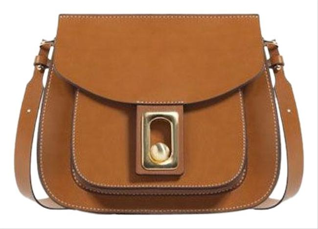 Item - New Purse Tan Brown Faux Leather Cross Body Bag