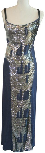 Item - Denim Blue Long Formal Dress Size 8 (M)