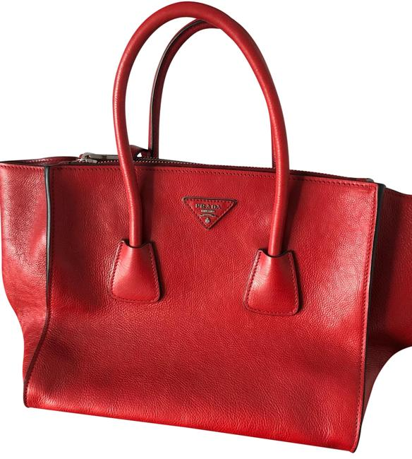 Item - Top Handle Bag Red Lambskin Leather Satchel