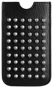 Burberry Metal Studded Leather Logo Sleeve Case iPhone 5