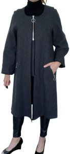 Hache Avantgarde Italian Luxury Wool Fall Pea Coat