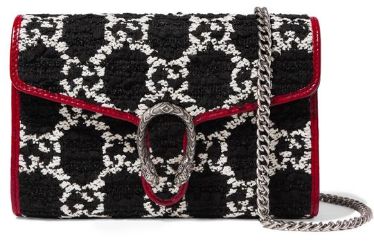 Preload https://img-static.tradesy.com/item/25987804/gucci-shoulder-dionysus-purse-new-black-white-red-tweed-and-leather-cross-body-bag-0-0-540-540.jpg