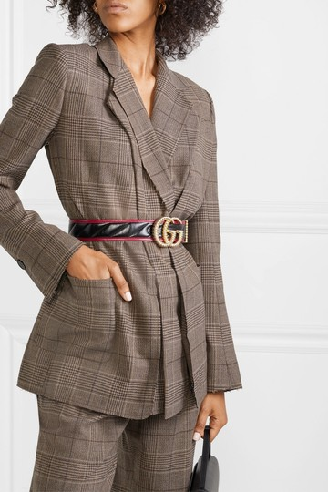Gucci NEW GUCCI 90 cm BLACK GG TORCHON THICK WIDE BELT GOLD QUILTED Image 6