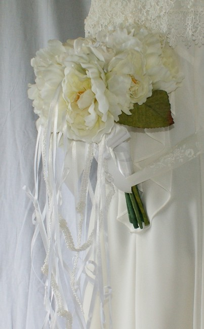 Peonies and Love Knots Silk Wedding Bouquet Peonies and Love Knots Silk Wedding Bouquet Image 1