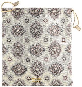 Prada Prada Gold Flower Embroidery Pouch