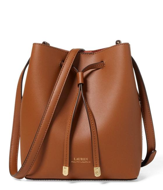 Item - Drawstring Debby Field Brown/Orange Leather Cross Body Bag