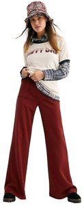 Free People New Rudy Flare Solid Wide Leg Pants Red
