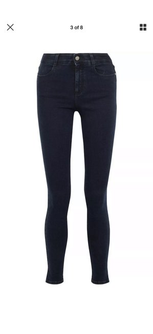 Item - Navy/Dark Rinse/Blue Cropped Skinny Jeans Size 6 (S, 28)