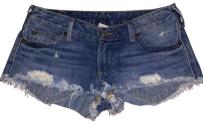 True Religion Blue Vintage Distressed Wash Shorts Size 2 (XS, 26) True Religion Blue Vintage Distressed Wash Shorts Size 2 (XS, 26) Image 1