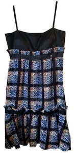 Chanel Empire Waist Lolita Plaid Cobalt Lesage Dress
