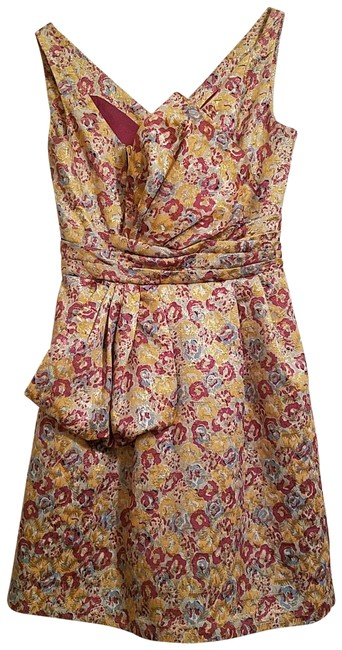 Item - Pink and Gold Short Cocktail Dress Size 2 (XS)