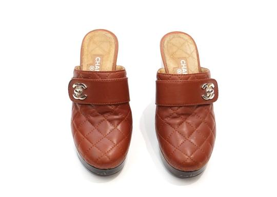 Chanel Red Mules Image 1