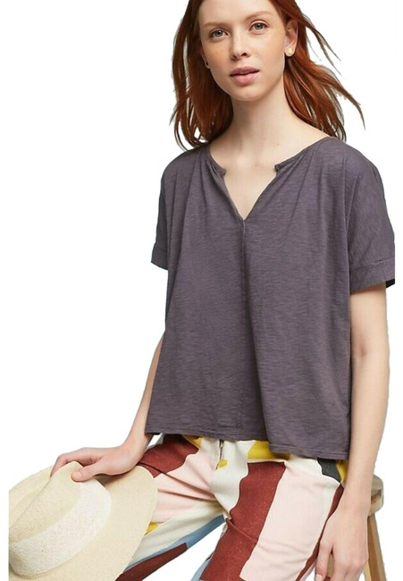 Item - Gray Spencer New Loreen Tie-back By Velvet By Graham & Sp Tee Shirt Size Petite 6 (S)