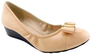 Cole Haan Ballerina Slip On Pumps Flats Emory Nude Wedges