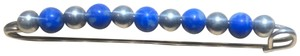 Tiffany & Co. Lapis and Sterling Silver Bead Brooch