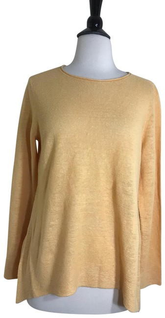 Item - Yellow Organic Linen Knit Tunic Size 6 (S)