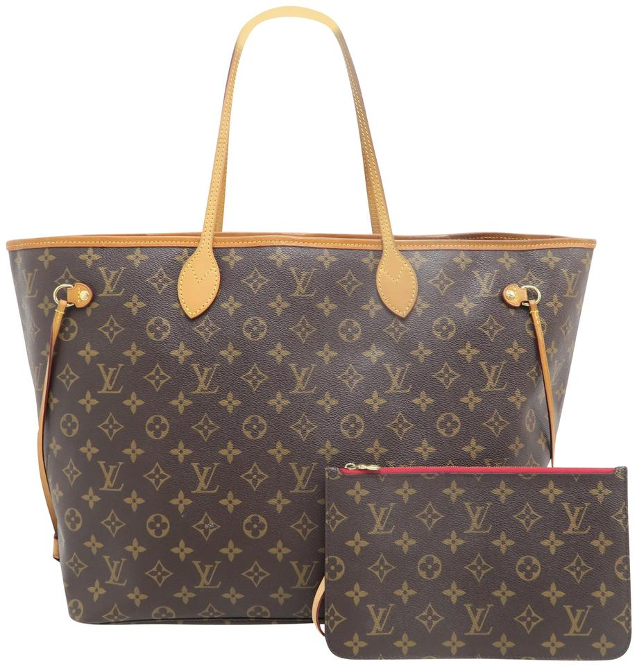 reliable reputation ever popular search for original Louis Vuitton Neverfull W Gm W/P Brown Monogram Canvas Shoulder Bag