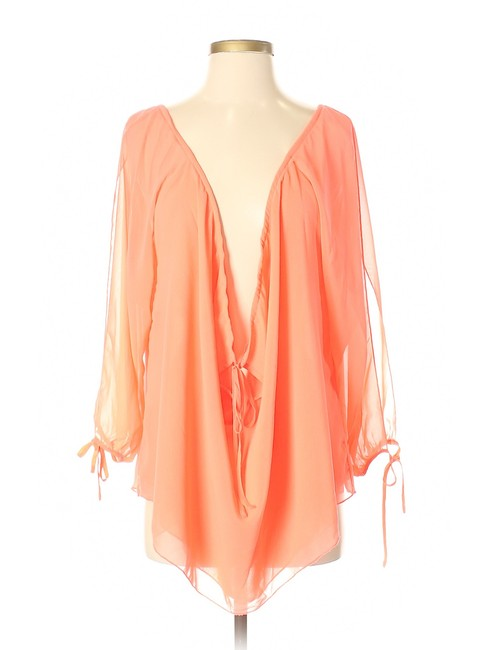 Item - Coral XS Long Sleeve Blouse Size 2 (XS)
