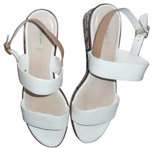 Cole Haan Wedge White Sandals