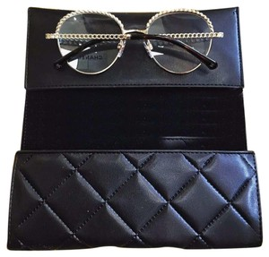 Chanel Triple pearl chain necklace bag round gray sunglasses 3 items!
