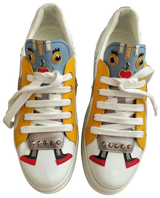 Item - Multicolor Double Robot Double-sole Leather Low-top Sneakers Size EU 38.5 (Approx. US 8.5) Regular (M, B)