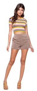 Very J Dress Shorts Taupe