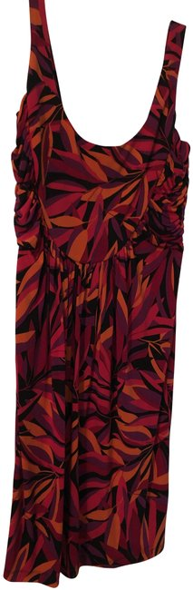 Item - Red Orange & Purple Going Short Night Out Dress Size 14 (L)