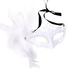 Other Princess Costume Floral Feather Masquerade Eye Mask