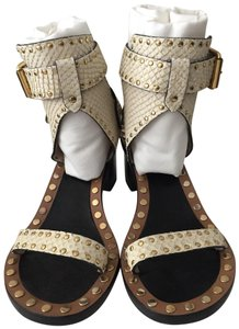 Isabel Marant ivory/gold Sandals