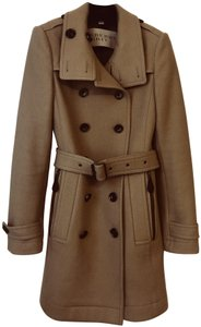 Burberry Wool Wool Check Trench Coat