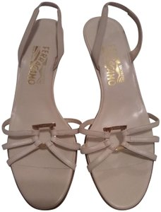 Salvatore Ferragamo Cream Sandals